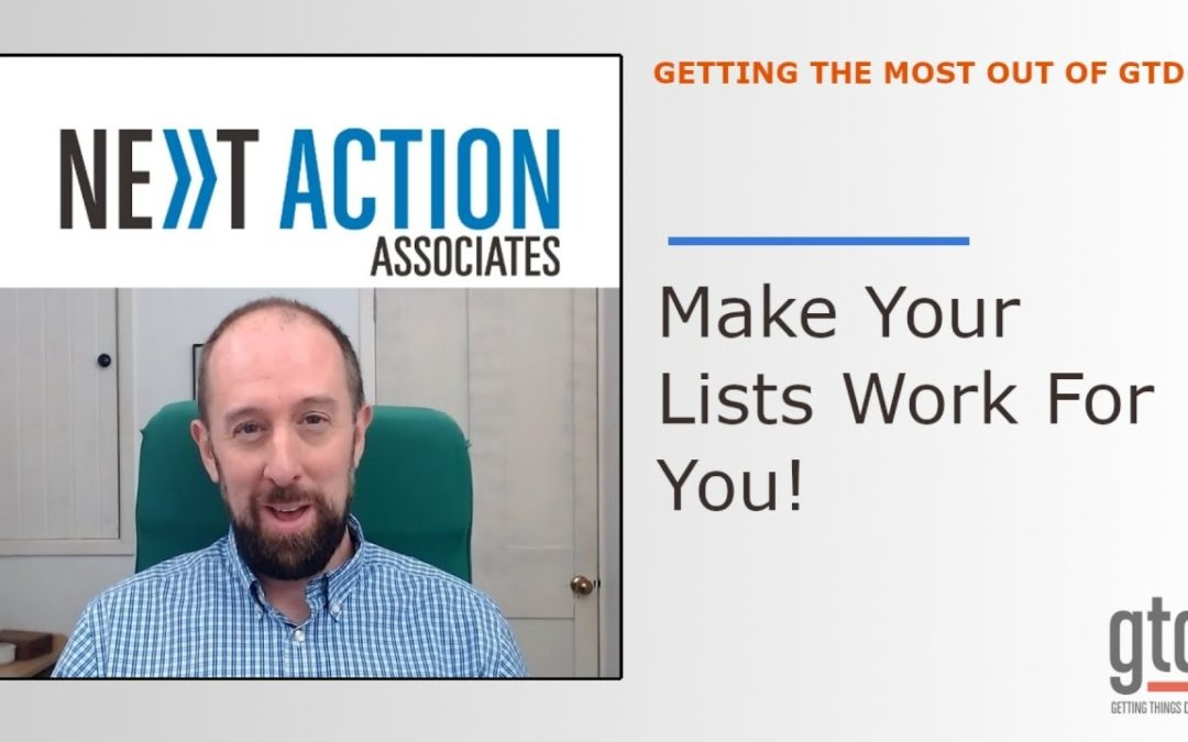 How To Make Your Lists REALLY Work For You
