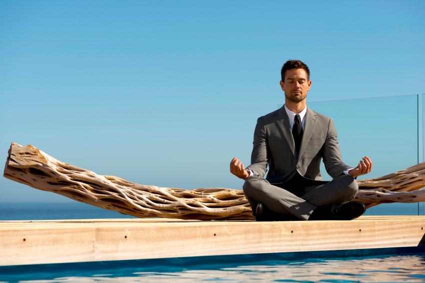 Meditating executive